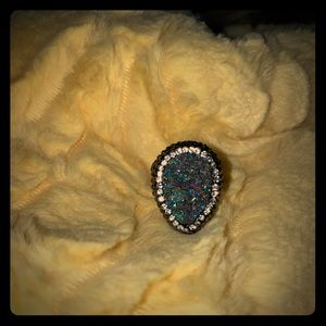 Gorgeous druzy adjustable ring
